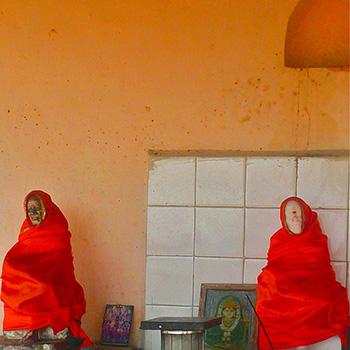 Wayside Shrine, road to Ali Bagh, Western India