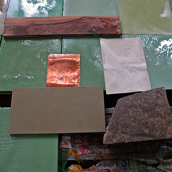 Selecting materials and coloured renders for Copper House, Ali Bagh –  with Studio Mumbai