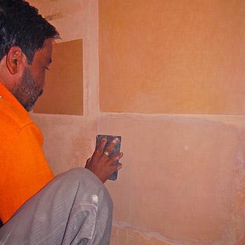Making polished Araash samples for Pink Puja room – New Delhi