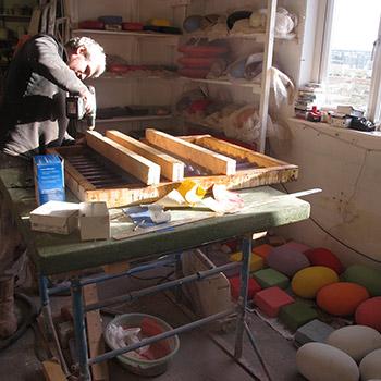 Building moulds for Corrugated Concrete blocks