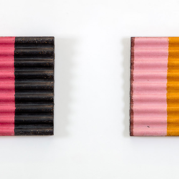 Corrugated Concrete stripes; 'Shelter series'