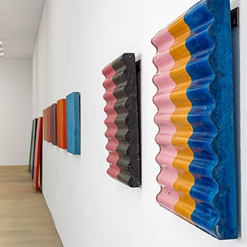 Fresco Colour Fields,  and Corrugated concrete;  'Shelter series'