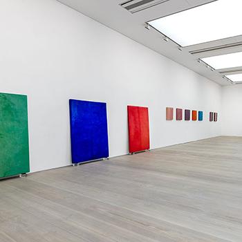 Fresco Colour Fields and Corrugated Coloured Concrete; 'Shelter Series'