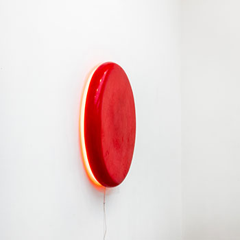 'Carmine Pill Orange Spill' Fresco Light piece
