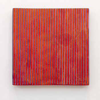 Inlay Fresco Series; Cobalt Violet and Irgazine Orange Inlaid lines