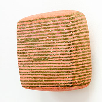 Fresco, Inlaid Brick Series; Madder Pink and Green Earth Equivalent Lines