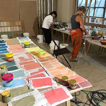 Teaching colour mixing; Onomichi