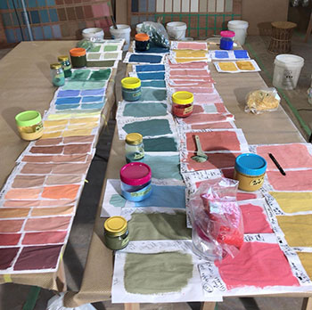 Working out recipes Colour workshop; Onomichi