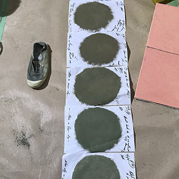 Colour testing Deep Greens / Umber Greys